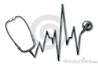 Stethoscope EKG healthcare symbol