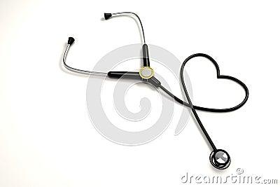 stethoscope forming heart shape stock photo   image 24533760