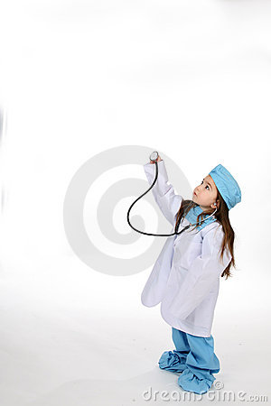 Free Stethoscope Girl Royalty Free Stock Images - 5709789
