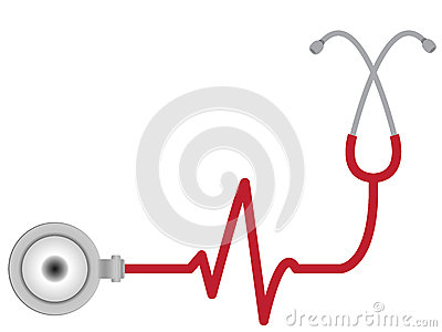 Stethoscope with heart beat