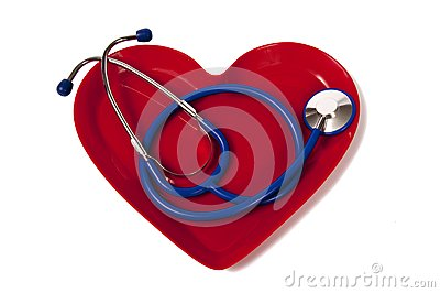 Stethoscope In Heart Shaped Plate