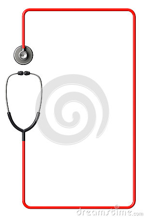 Free Stethoscope In Red As Frame Stock Photo - 29116440