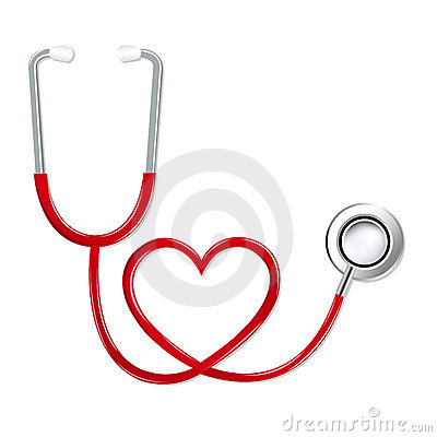 Free Stethoscope In Shape Of Heart. Vector Stock Photography - 17880902