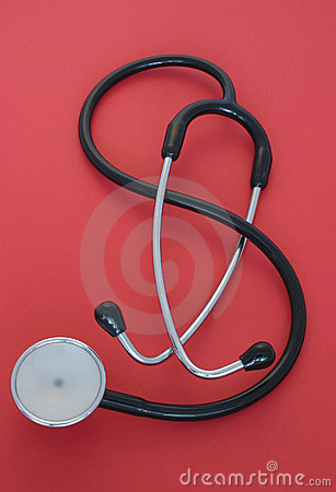 Free Stethoscope On Red Royalty Free Stock Photo - 417735