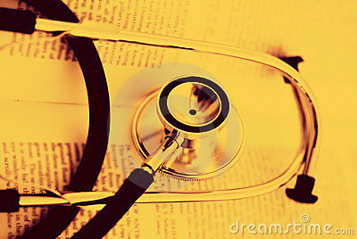 Stethoscope on a open book