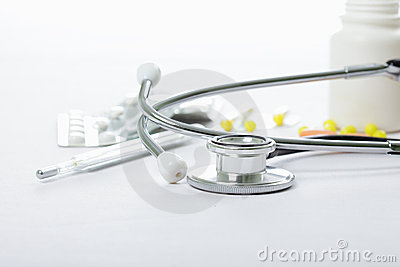 Stethoscope and other medical objects