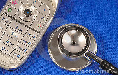 A stethoscope with a phone