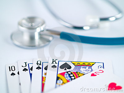 Stethoscope and Playing Cards