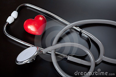 Stethoscope & red heart
