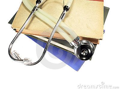 Stethoscope on Reference Books