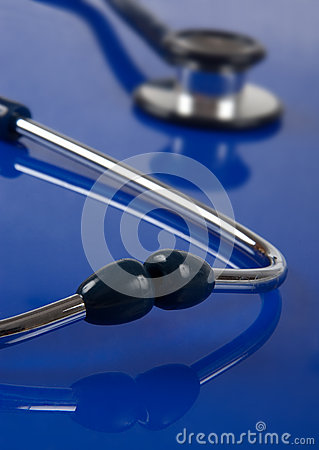 Stethoscope with a reflection