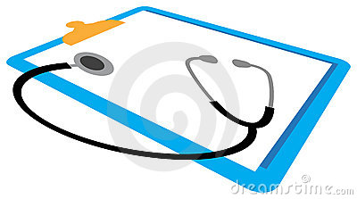 Stethoscope and report pad