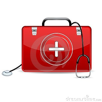 Free Stethoscope With First Aid Box Stock Photos - 23714533