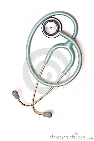 Stetoscope isolated on white