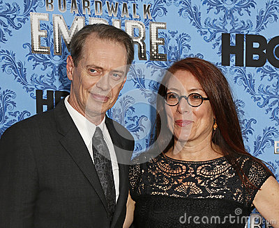 Steve Buscemi and Jo Andres Editorial Stock Photo