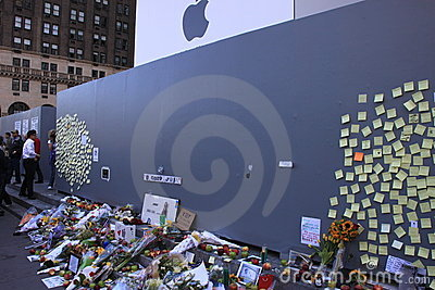 Steve Jobs memorial Editorial Stock Image