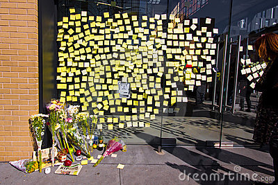 Steve Jobs Memorial NYC Editorial Photography