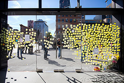 Steve Jobs Memorial NYC Editorial Stock Photo