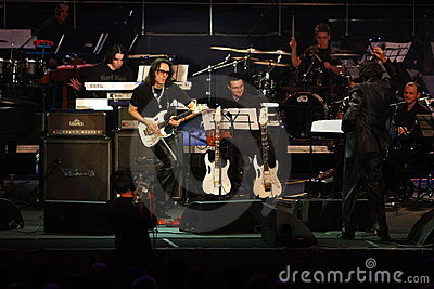 Steve Vai and The Evolution Tempo Orchestra Editorial Photography