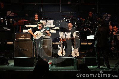 Steve Vai and The Evolution Tempo Orchestra Editorial Photo