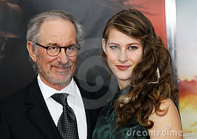 Steven Spielberg and Destry Allyn Spielberg Editorial Stock Photo