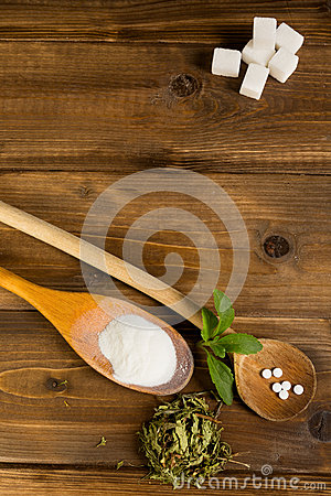 Stevia on a table