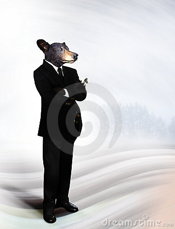 Bear in business suit