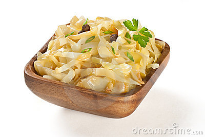 Stewed cabbage  on plate