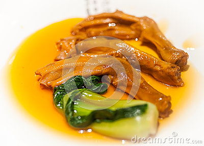 Stewed duck trotter , Chinese cuisine
