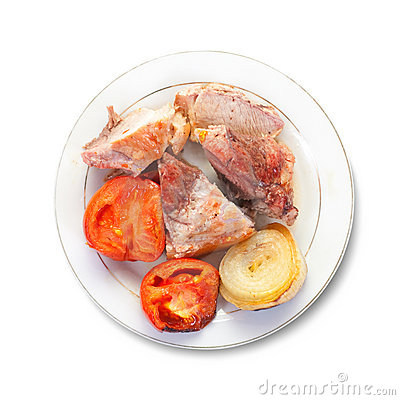 Stewed meat with tomatoes