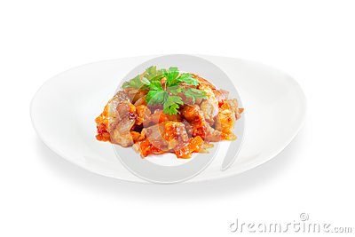 Stewed vegetables with meat