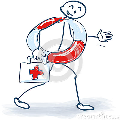 Free Stick Figure With First Aid Stock Photography - 53218122