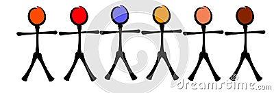 Stick Figures Racial Equality