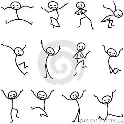 Free Stick Man Stick Figure Happy Jumping Celebrating Royalty Free Stock Photos - 38951018