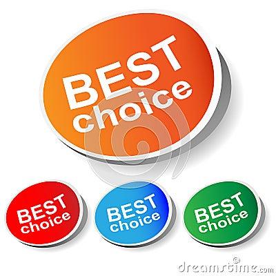 Sticker best choice