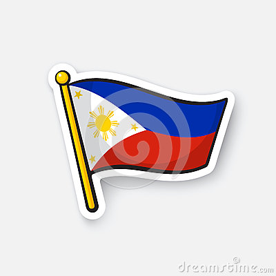 Free Sticker Flag Of The Philippines Stock Photo - 86442000