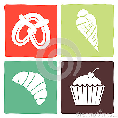 Sticker and icons for restaurants
