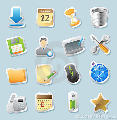 Sticker icons for signs and interface