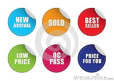 Sticker label price