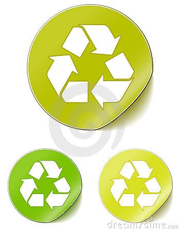 Free Sticker Recycle Stock Image - 14821551