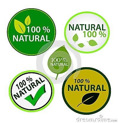 Sticker set: 100  natural