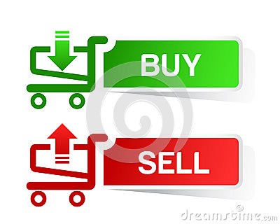 Sticker shopping cart item, trolley, BUY  SELL but