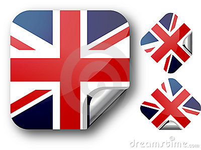 Sticker with UK flag