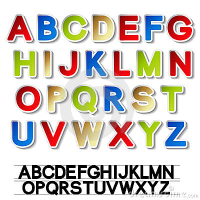 Stickers of alphabet - own font