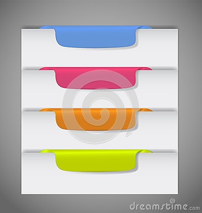 Stickers on the edge of the page vector