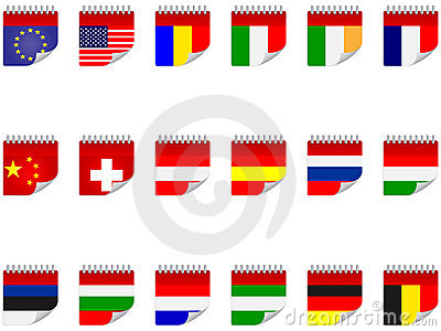 Stickers with flags