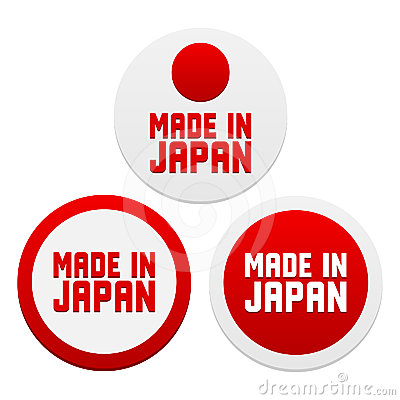Stickers with Made in Japan