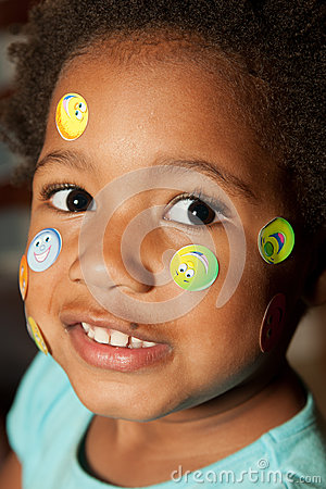Free Stickers On My Face! Royalty Free Stock Image - 26008006