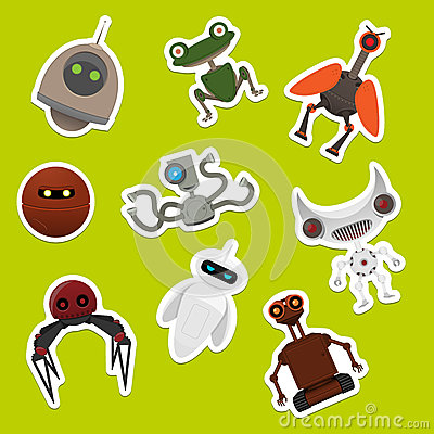 Stickers with robots
