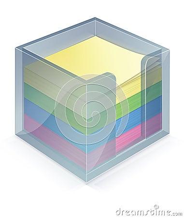 Stickiebox with stickies